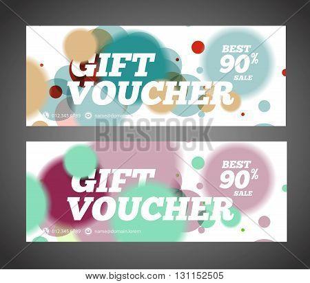 Gift Voucher Design Template. Discount Voucher Template. Sale Banner Design, Blank, Print Design, Co