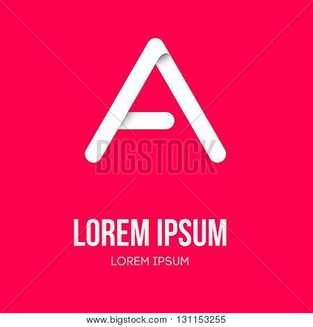 Letter A Logo Icon Design Template. Vector Letter A Logo. Abstract Letter A Company Name. Vector Let
