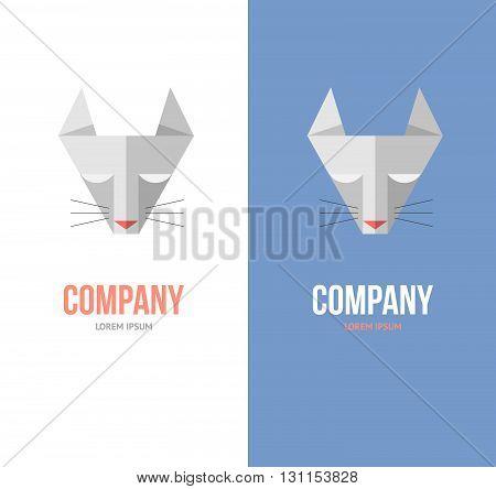 Online Pet Shop Logo Set. Online Pet Store.