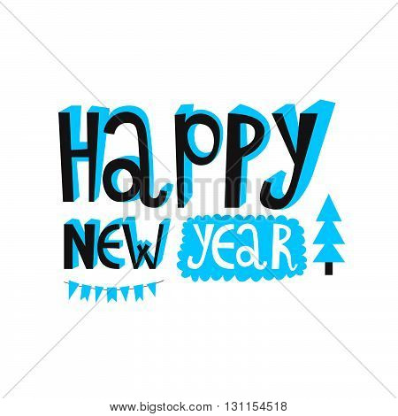 Happy New Year 2016 Or Christmas Typography. Poster Or Invite Card. Vector Design
