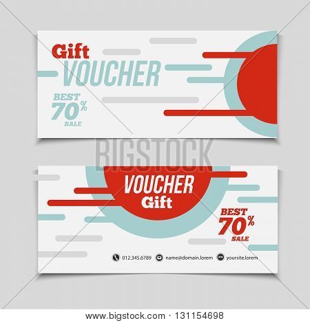 Abstract Gift Voucher Or Coupon Design Template. Voucher Design, Blank, Print Design, Coupon. Gift V