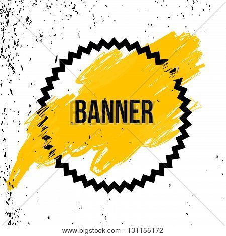 Vector Poster With Speech Bubble. Yellow Background.