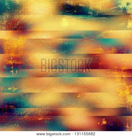Vintage background in scrap-booking style, faded grunge texture with different color patterns: yellow (beige); blue; red (orange); purple (violet); pink