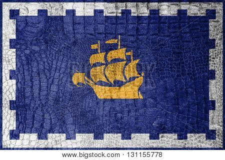 Flag Of Quebec City, On A Luxurious, Fashionable Canvas
