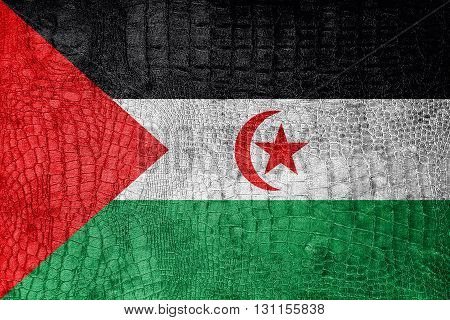 Flag Of Sahrawi Arab Democratic Republic, On A Luxurious, Fashio