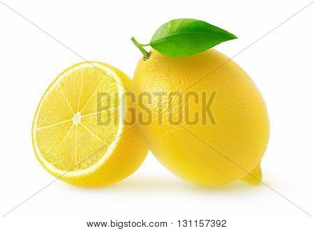 Isolated Cut Lemons