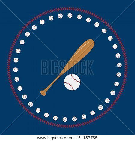 Baseball icon vector flat. For t-shirt designs. illustration of vintage baseball label.