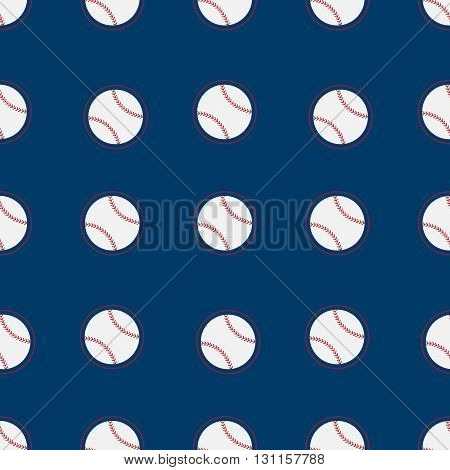 Baseball seamless.Flat vector seamless Seamless pattern background. White balls Seamless background with baseball Vector flat pattern whith white balls red seam