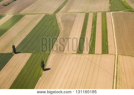 Arable land aerial photography in the Vojvodina