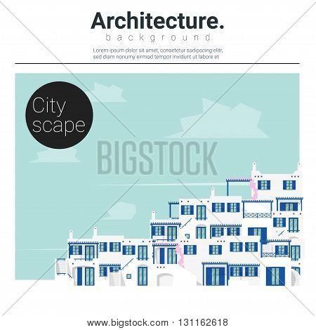 Architecture background Cityscape , urban scene ,vector,illustration