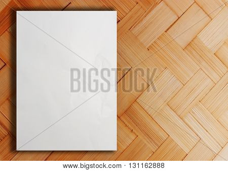 Blank white paper catalog, Magazines book white paper mock up on wooden background for design