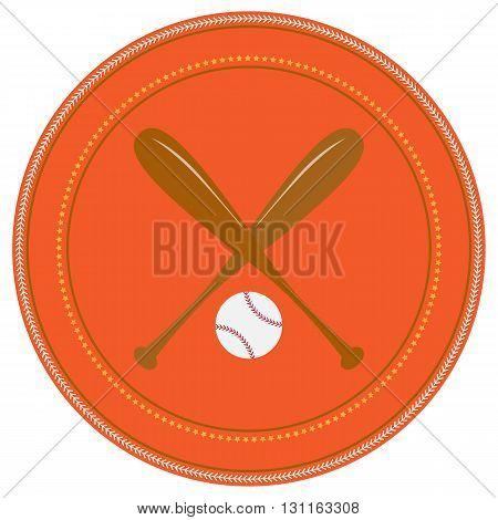 Baseball iconBaseball icon vector flat. For t-shirt designs. illustration of vintage baseball label.Sports logo flat elements