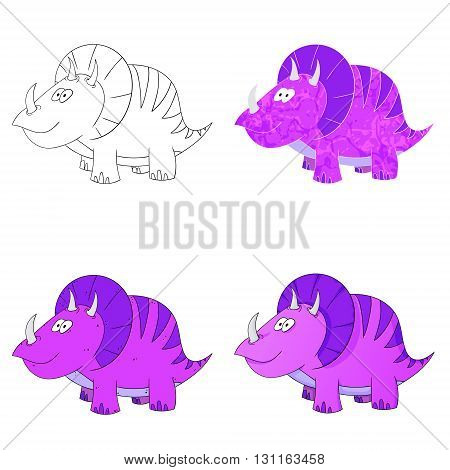dino set icon 4 vector variations dinosaur