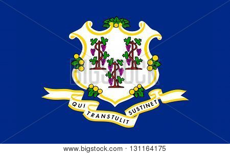 Flag of Connecticut Hartford - United States