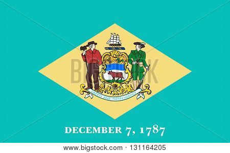 Flag of Delaware is one of the Mid-Atlantic states located in the Northeast megalopolis region of the United States