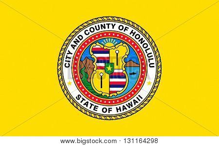 Flag of Honolulu is the state capital and the most populous city of the U.S. state of Hawaii
