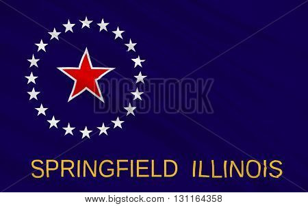 Flag of Springfield is the capital of the U.S. state of Illinois and the county seat of Sangamon County
