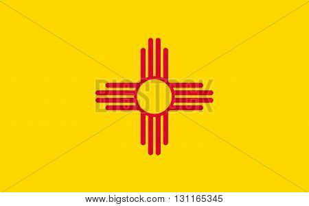 Flag of New Mexico is a state located in the southwestern region of the United States of America