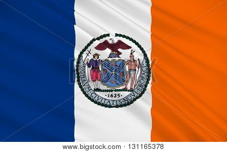 Flag of New York City or simply New York is the most populous city in the United States. Located at the southern tip of the State of New York the city is the center of the New York metropolitan area