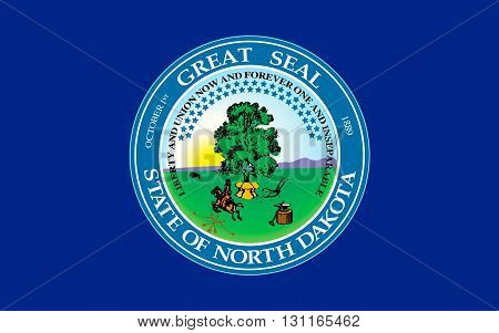 Flag of North Dakota is the 39th state of the United States