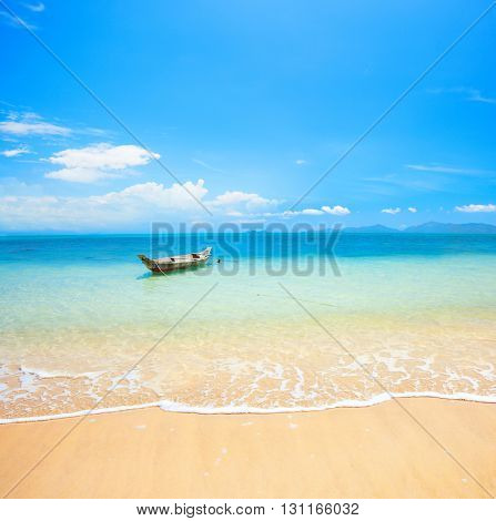 boat and beautiful blue ocean