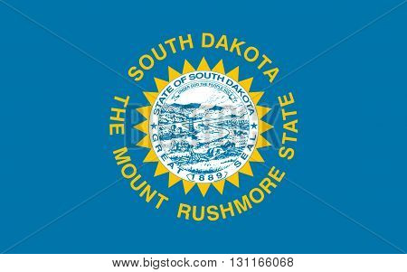 Flag of South Dakota is a state located in the Midwestern region of the United States