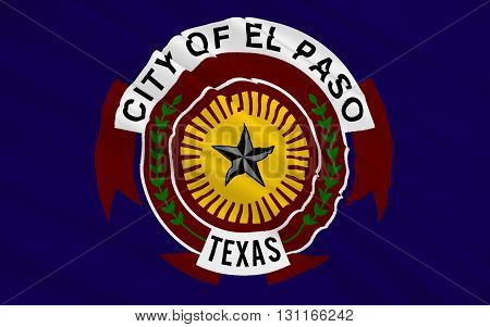 Flag of El Paso is the county seat of El Paso County in Texas USA