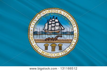 Flag of Norfolk is an independent city in the Commonwealth of Virginia United States