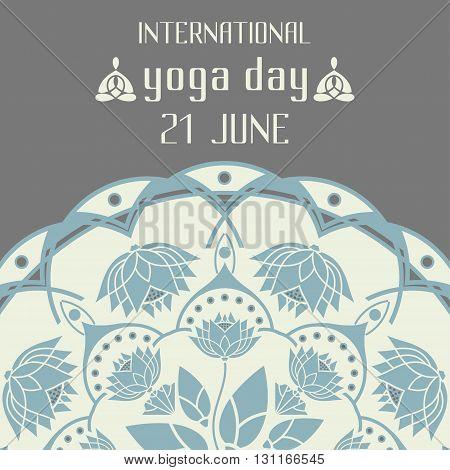 International Day of Yoga lotus emblem design