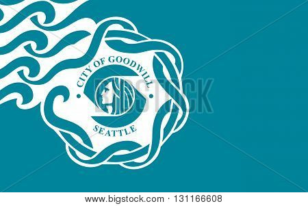 Flag of Seattle is a West Coast seaport city and the seat of King County USA