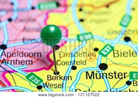 Borken pinned on a map of Germany