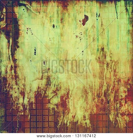 Art grungy texture, aged background with retro feeling. With different color patterns: yellow (beige); brown; green; red (orange); purple (violet); pink