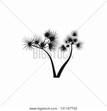 Two palm trees icon in simple style on a white background