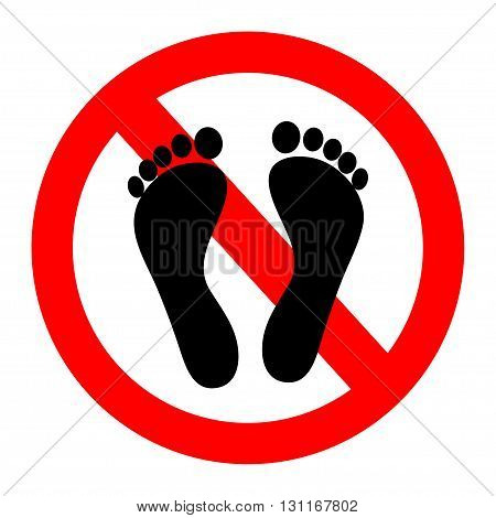 Not Walk icon great for any use.