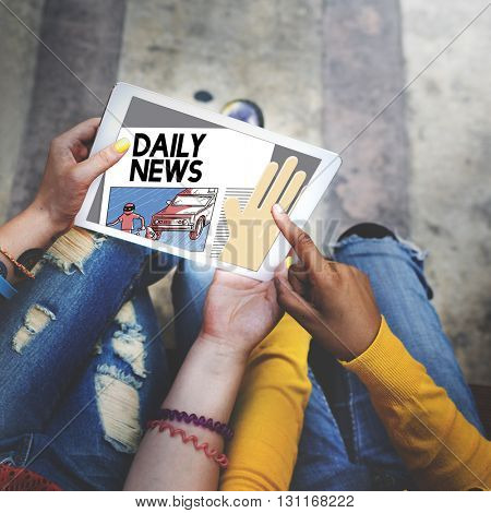 Daily News Announcement Communication Media Concept