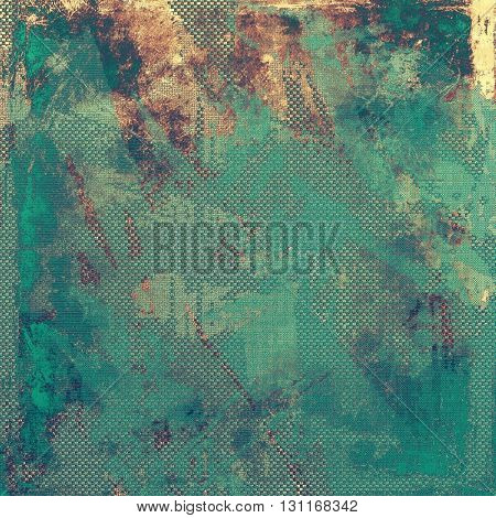 Colorful grunge texture or background with vintage style elements and different color patterns: yellow (beige); brown; blue; gray; cyan