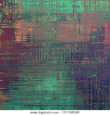 Grunge background for a creative vintage style poster. With different color patterns: brown; green; red (orange); purple (violet); pink; cyan