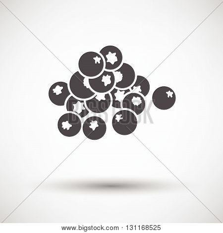 Blueberry Icon On Gray Background