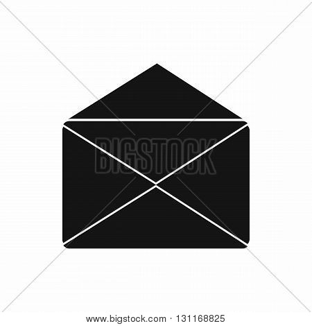Open envelope icon in simple style on a white background