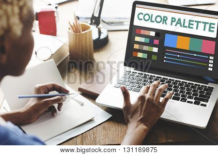 Color Palette Design Device Technology Concept