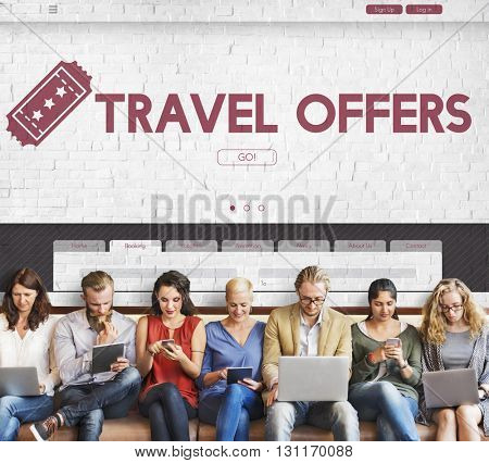 Offer Chance Ticket Travel Chance Concept
