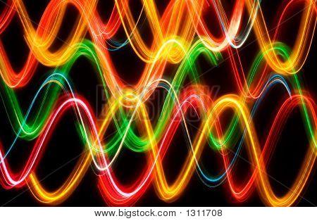 Wave Lights Background