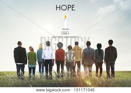 Hope Belief Believe Imagine Praying Trust Temple Concept
