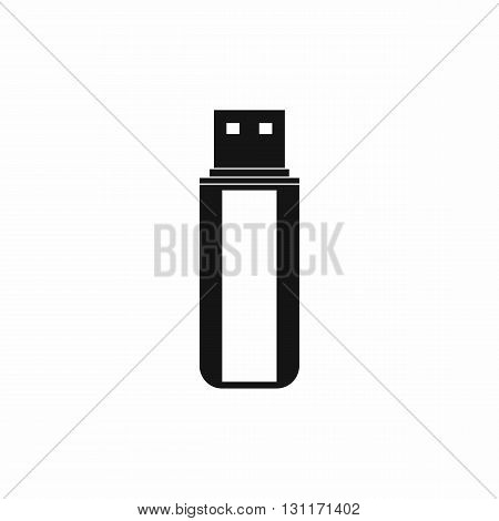 USB flash drive icon in simple style on a white background