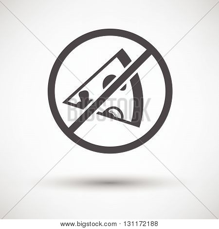 Prohibited Pizza Icon