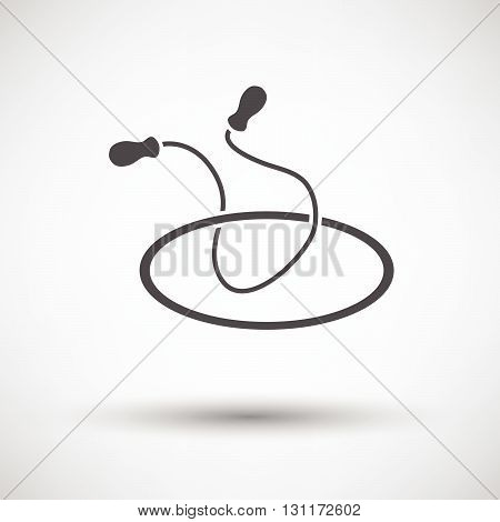 Jump Rope And Hoop Icon