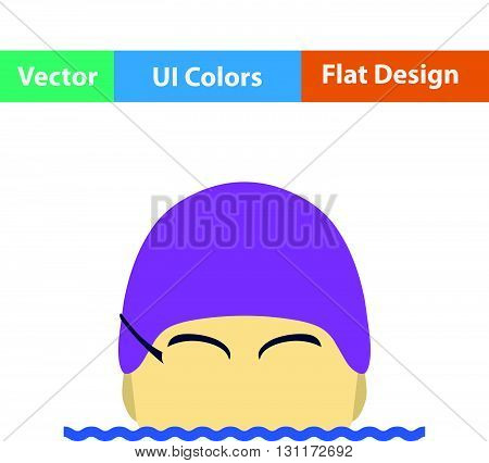 Flat Design Icon Of Fitness Rubber Ball
