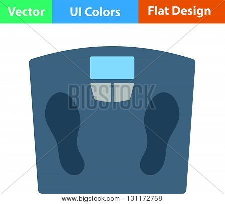Flat Design Icon Floor Scales