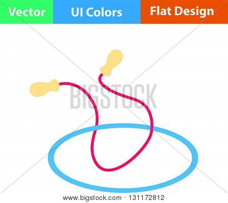 Flat Design Icon Of Jump Rope And Hoop