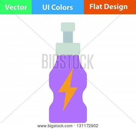 Flat Design Icon Of Energy Drinks Bottle